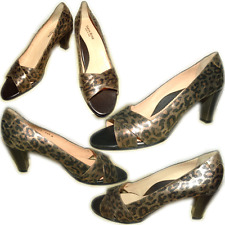 $425 Taryn Rose Metalic Leopard Shoes Pumps 41.5 / 10.5