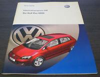 VW Golf Plus Selbststudienprogramm SSP 338 Technischer Stand 01/2005
