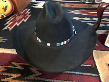 Resistol West Texas XXXX Beaver Black Western Cowboy Hat Size 7 1/8 In Box