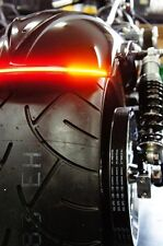 "Flexible LED Motorcycle Light Bar w/ Brake and Turn Signals - 9.8"" - Smoked Lens"