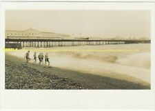Brighton, Winter Bathers by Palace Pier Real Photo for Expo'92 Seville, postcard