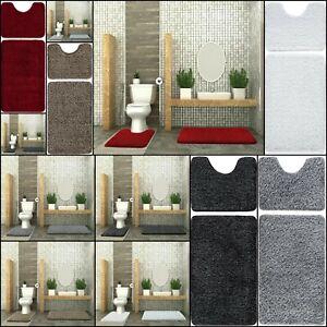 2 Piece Non Slip Bath Mat Glittery Soft Toilet Pedestal Mat