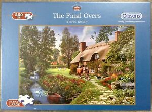 """GIBSONS  """"The Final Overs""""  XL 250 Piece Jigsaw Puzzle NEW & sealed"""