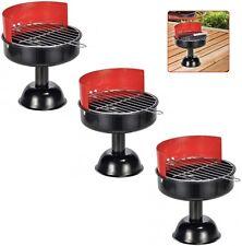 3x Standaschenbecher Mini Grillaschenbecher Aschenbecher im BBQ-Grill-Design