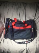 Vintage Tommy Hilfiger Duffle Bag Gym Sports Travel Carry On Luggage Spellout