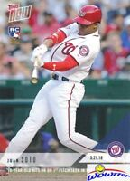 2018 Topps Now#235 Juan Soto FIRST PRINTED TOPPS ROOKIE MINT w/RC LOGO Nationals