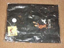 Tintin Large Beach Bag / Shopping Bag - Tintin and Snowy Design - Black - rf93