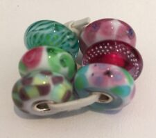 Authentic Trollbeads Spring Fashion Kit.  63042- 6 Glass Beads, Retail $204