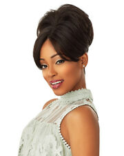 Sensationnel Instant Bun Bangs Ponytail Wavy Synthetic Hair Extension - Evonne