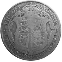 1920 HALF CROWN - Silver Coin - King George V - Great Britain  #R73