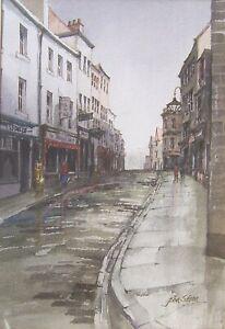 John Sibson framed original watercolour 'December in Whitby', signed