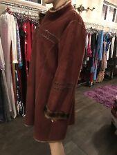 women faux long fur winter coat reversible