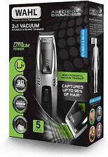 Wahl Beard Trimmer Men, 2-in-1 Vacuum Hair Trimmers for Men, Stubble Trimmer