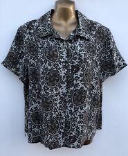 NWOT CHARTER CLUB Paisley Silk Shirt Size US 14 / UK 16 Side Slits MACY'S NYC