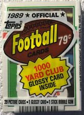 1989 TOPPS FOOTBALL FACTORY SEALED CELLO PACK - (29 CARDS &1 GLOSSY & GUM)