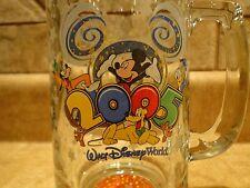 WALT DISNEY WORLD 2005 MICKEY GOOFY PLUTO DONALD TALL GLASS MUG STEIN TANKARD