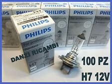 STOCK 100 LAMPADINE H7 PHILIPS 12V LAMPADE FANALE AUTO ABBAGLIANTE ANABBAGLIANTE