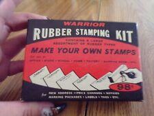 Vtg Warrior Rubber Stamping Kit