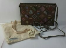 Authentic Vintage Embroidered Purse Clutch Bag by Stephanie Wood Made in England