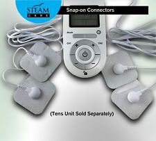 STEAM CARE Snap-on Replacement Electrode 16 Pads forTens EMS unit Pulse Massager