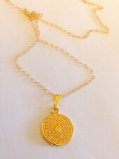 14 K Solid Gold Chain with 16 mm Hamsa medallion 20 ""