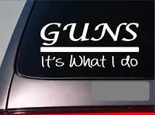 Guns sticker decal *E352* rifle scope hunting range shooting sites crosshairs 2a