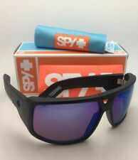 New SPY OPTIC Sunglasses TOURING Matte Black Frame with Happy Bronze+Blue Mirror