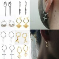 Men Women Punk Round Honybee Earring Drop Dangle Hoop Charm Jewelry Gift Party