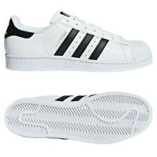 Adidas Originaux Superstar Foundation Blanc Noir Baskets Or Coque Haut Chaussure