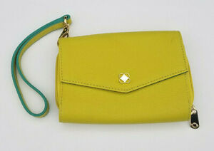 Miche Clutch Purse Lime Green Wristlet Wallet Teal Chartreuse