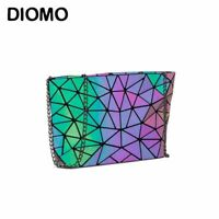 Luminous Women Geometric laser Tote Shoulder Bag Folding Reflection Handbags 3D