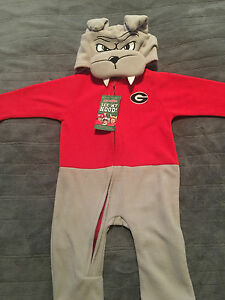 Georgia Bulldogs Infant Mascot Wear Sleeper costume Full zip toddler