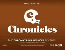 2020 Panini Chronicles Draft Picks Collegiate Football Hobby Box - 3 Autographs