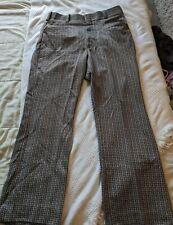 Men's Vintage Spyder Mark Disco/Retro/Hippy/Hipster Pants Sz 34 Pattern & Flare!