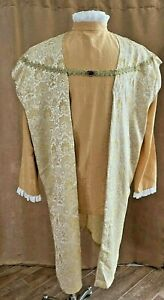 L / XL Men custom Pirate Renaissance Medieval costume tunic shirt gold king