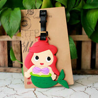cute MERMAID princess silica gel luggage tags Baggage Tag  travel tags cute