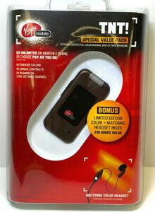 Virgin Mobile Kyocera TNT Color Flip Phone NEW In Sealed Package w/Bonus Headset