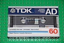 TDK  AD   60      VS. XI     BLANK CASSETTE TAPE (1)   (SEALED)
