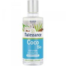 Huile de Coco Bio Nourrissante 100% Pure Bio NATESSANCE 100ml Flacon /EBUC