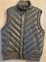 RARE- SQUARED Gray Sleeveless FAUX LEATHER Jacket- XXX- EXCELLENT
