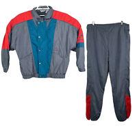 Le Coq Sportif Vintage Gray Multicolor Tracksuit Size Large Retro 80's 90's