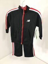 NEW BALANCE TODDLER BOYS TRACK SUIT BLACK/RED 2T NEW