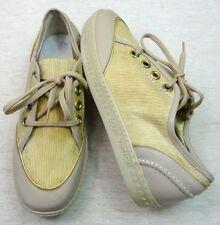 LOUIS VUITTON Sneaker Gr. 40 UK ca. 7 gold-beige Schnürschuhe Schuhe