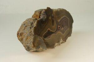 Achat brauner Achatstein Felsstück 2,1  Kg ca. 21 cm Mineralie  M-2684