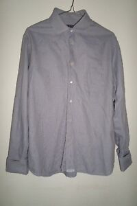 TED BAKER VINTAGE SHIRT EMBROIDERED STRIPED SIZE 3 MEDIUM 100% COTTON