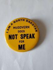 Rare anti Mcgovern campaign button