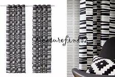 "Ikea Lappljung Rand Curtains 1 pair Linen Blend Black Grommet Panels 57x98"" NOOP"