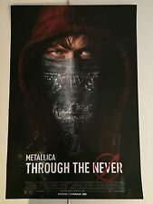 METALLICA THROUGH THE NEVER 11x17 Movie POSTER Rare James Lars