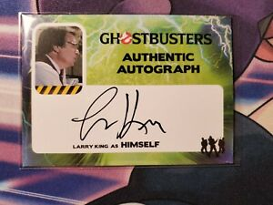 2016 Cryptozoic GHOSTBUSTERS Authentic Autograph Larry King Auto Rare SP RIP