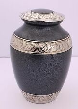 """Cremation Urn For Ashes Young Adult Child urn Funeral Memorial 8""""Medium Grey urn"""